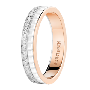 Boucheron Quatre White Edition wedding band diamonds