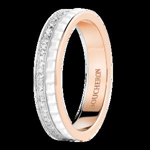 Boucheron Quatre White Edition wedding band diamonds