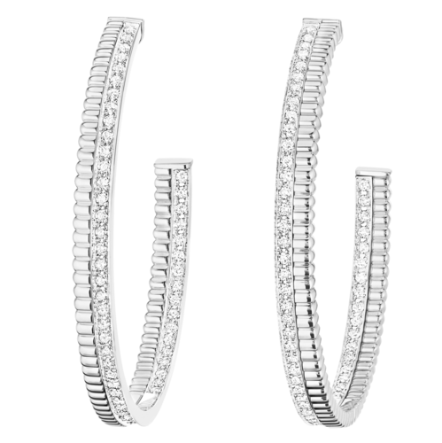 Boucheron Quatre Radiant Edition white Hoop Earrings
