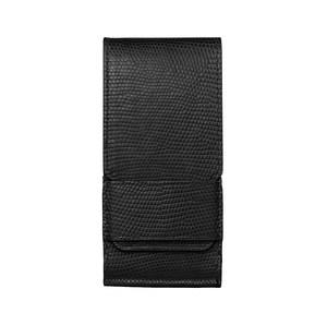 Вертикальный Чехол Vertu Signature Touch из кожи ящерицы черного цвета с откидным клапаном