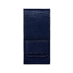 Вертикальный Чехол Vertu Signature Touch из кожи ящерицы темно-синего цвета с откидным клапаном