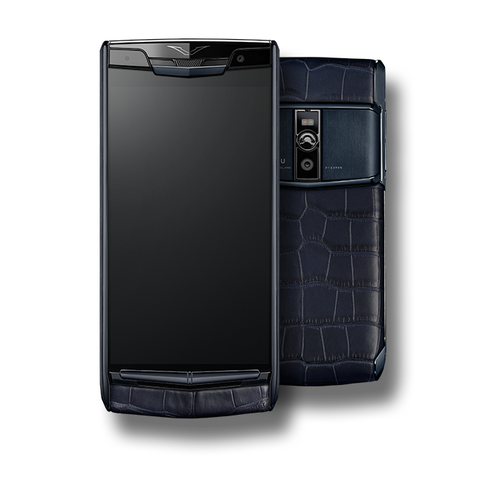 VERTU SIGNATURE TOUCH NEW PURE NAVY ALLIGATOR