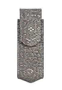 Вертикальный чехол Vertu Signature S из натуральной кожи ящерицы с отделкой из стали