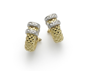 Fope серьги MAORI Yellow Gold Diamond Earrings OR155 BBR