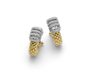 Fope серьги VIRGINIA Yellow Gold Diamond Earrings OR226 BBR1