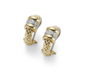 Fope серьги FLEX'IT SOLO Yellow Gold Diamond Earrings OR621 BBR