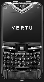 VERTU QUEST BLACK PVD STAINLESS STEEL CARBON  FIBRE