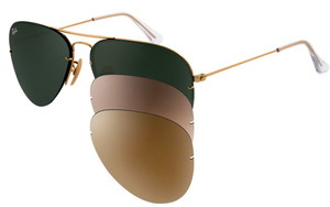 Ray-Ban Aviator Flip Out RB 3460 001/71