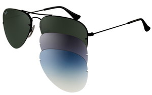 Ray-Ban Aviator Flip Out RB 3460 002/71