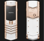 VERTU Signature Pure White Red Gold Diamonds