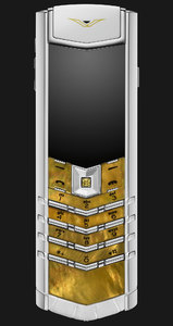 Vertu Signature Gold Mother Of Pearl White Alligator
