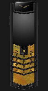 Vertu Signature Gold Mother Of Pearl Black Alligator