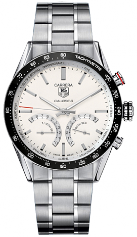 TAG Heuer Carrera 1/100 th sec Electro-Mechanical Chronograph 43 mm CV7A13.BA0795