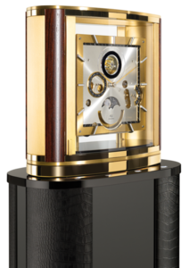 Настольные часы Buben & Zorweg Ellipse Grand Revers Tourbillon Gold