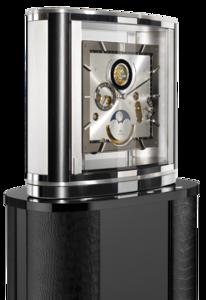 Настольные часы Buben & Zorweg Ellipse Grand Revers Tourbillon Rhodium