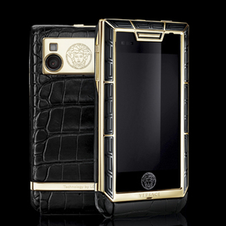 VERSACE UNIQUE YELLOW GOLD GILDED - BLACK CERAMIC