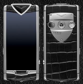VERTU CONSTELLATION T BLACK ALLIGATOR DIAMOND