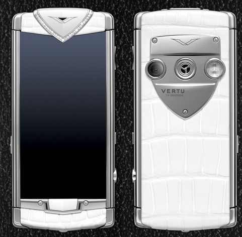 VERTU CONSTELLATION T WHITE ALLIGATOR DIAMOND