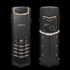 VERTU Signature Pure Black Red Gold Mixed Metals