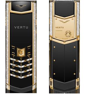 VERTU SIGNATURE S DESIGN YELLOW GOLD BAGUETTE DIAMONDS