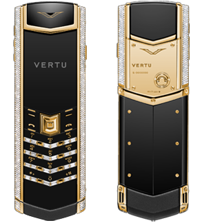 VERTU SIGNATURE S DESIGN YELLOW GOLD BAGUETTE DIAMONDS