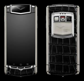 VERTU TI TITANIUM BLACK ALLIGATOR
