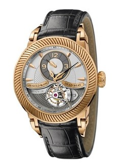 Arnold & Son Dead Beat Tourbillon (RG / Silver / Leather)