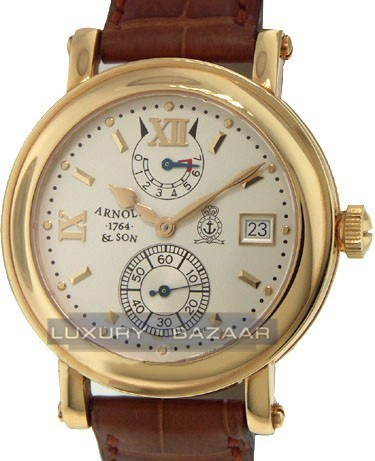 Arnold & Son GMT Timekeeper III (RG / Silver / Leather)