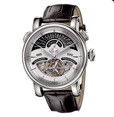 Arnold & Son Grand Tourbillon (WG / Silver / Leather)