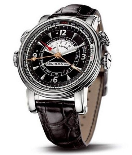 Arnold & Son Hornet Worldtimer 1H6AS.B05A.C79F (SS / Black / Leather)