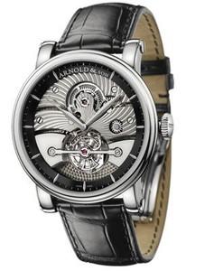 Arnold & Son Tourbillon Sir John (WG-Black / Silver / Leather)