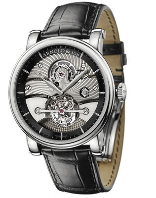 Arnold & Son Tourbillon Sir John (WG-Black / Silver / Leather)