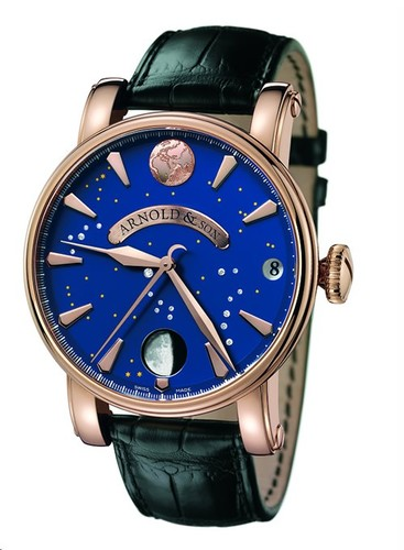 Arnold & Son True Moon (RG / Blue / Leather)