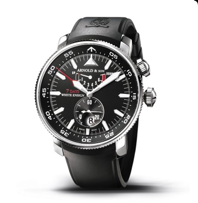 Arnold & Son White Ensign 7 Days (SS / Black / Rubber)