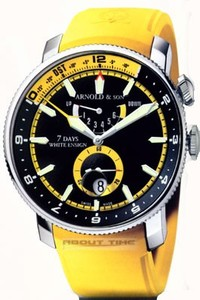 Arnold & Son White Ensign Yellow (SS / Black / Yellow Rubber)