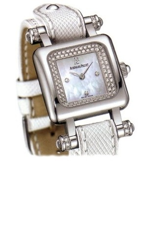 Audemars Piguet Deva (WG / MOP-Diamonds / White Lizard Leather)