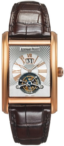 Audemars Piguet Edward Piguet Tourbillon (RG / Silver / Leather)