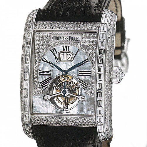 Audemars Piguet Edward Piguet Tourbillon (WG / Diamonds / Leather)