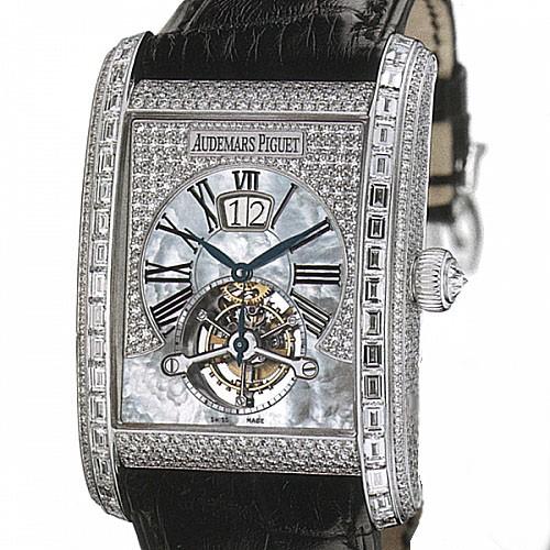 Audemars Piguet Edward Piguet Tourbillon (WG / Diamonds / Leather)