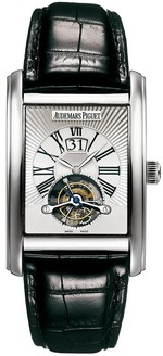 Audemars Piguet Edward Piguet Tourbillon (WG / Silver / Leather)