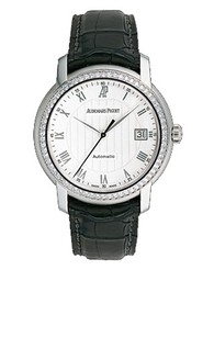 Audemars Piguet Jules Audemars Date (WG-Diamonds / Silver / Leather)