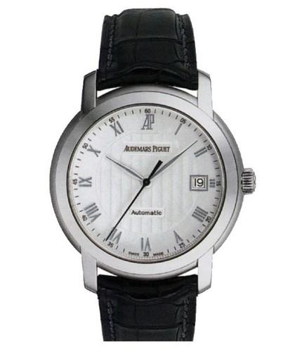 Audemars Piguet Jules Audemars Date (WG / Silver / Leather)