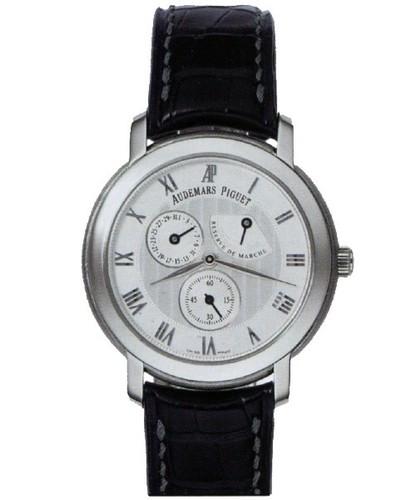 Audemars Piguet Jules Audemars Day Date (WG / White / Leather)