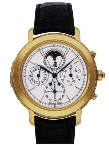 Audemars Piguet Jules Audemars Grand Complication (YG / Silver / Leather Strap)