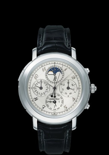 Audemars Piguet Jules Audemars Grande Complication (Platinum / White-Arabic / Leather)