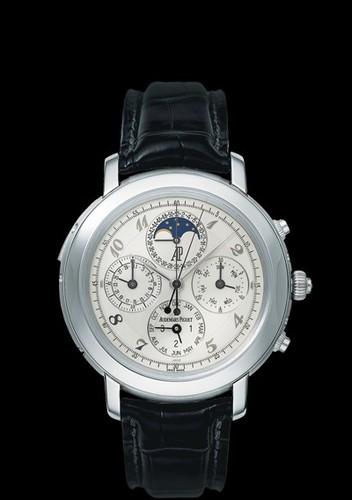 Audemars Piguet Jules Audemars Grande Complication (Platinum / White-Arabic / Leather)
