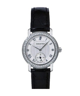 Audemars Piguet Jules Audemars Ladies Small Seconds (WG-Diamonds / Silver / Leather)