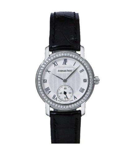 Audemars Piguet Jules Audemars Ladies Small Seconds (WG-Diamonds / Silver / Leather)