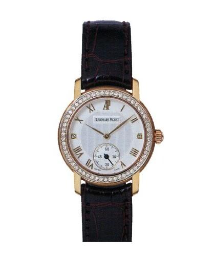 Audemars Piguet Jules Audemars Lady (RG-Diamonds-Silver-Leather)