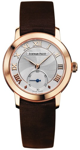 Audemars Piguet Jules Audemars Lady (RG / Silver / Brown Satin Strap)